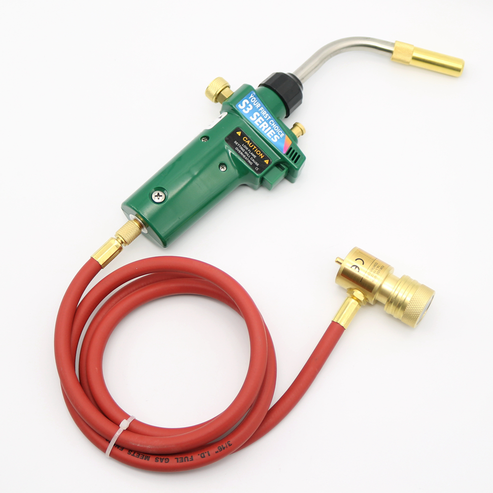 Gas Self Ignition Turbo Torch Solder Propane MAPP Welding Gas Torch with Hose gas self ontsteking sanitair turbo torch soldeer solderen fakkel lassen met lassen slang voor verwarming soldeer gereedschap