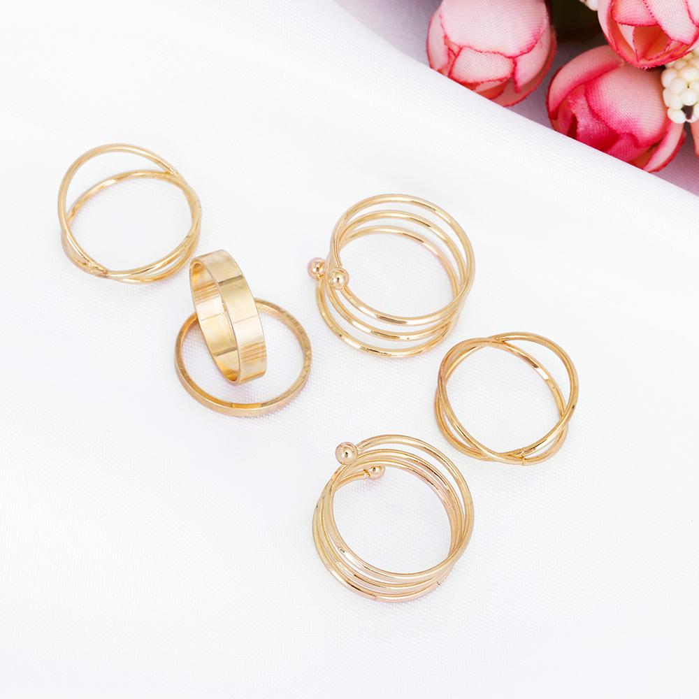 HTB1zN5JRpXXXXXvaFXXq6xXFXXXq Posh 6-Pieces Cuff Finger Ring Gift Set For Women - 2 Colors