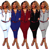 Spring and summer 2019, fashion, new style, African national style, fashion personality rib two-piece set