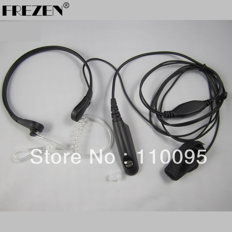 Throat Mic Earpiece/Headset For Motorola Walkie Talkie Radios GP328/340/GP 338/PTX760 Walkie Talkie