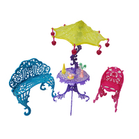 One Set Original Doll Furniture Cafe Chair New Styles Girls Plastic Baby Toy For Monster High