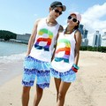 New arrived men and women fashion beach shorts Couple lovers' casual beach short ,quick dry stripes board , loose shorts