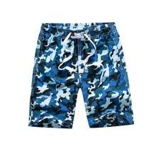 Funfeliz Children Quick Dry Beach Shorts7-15 Years Teenage Boys Swim Shorts Camouflage Swimming Trunk Boy Surf Board shorts