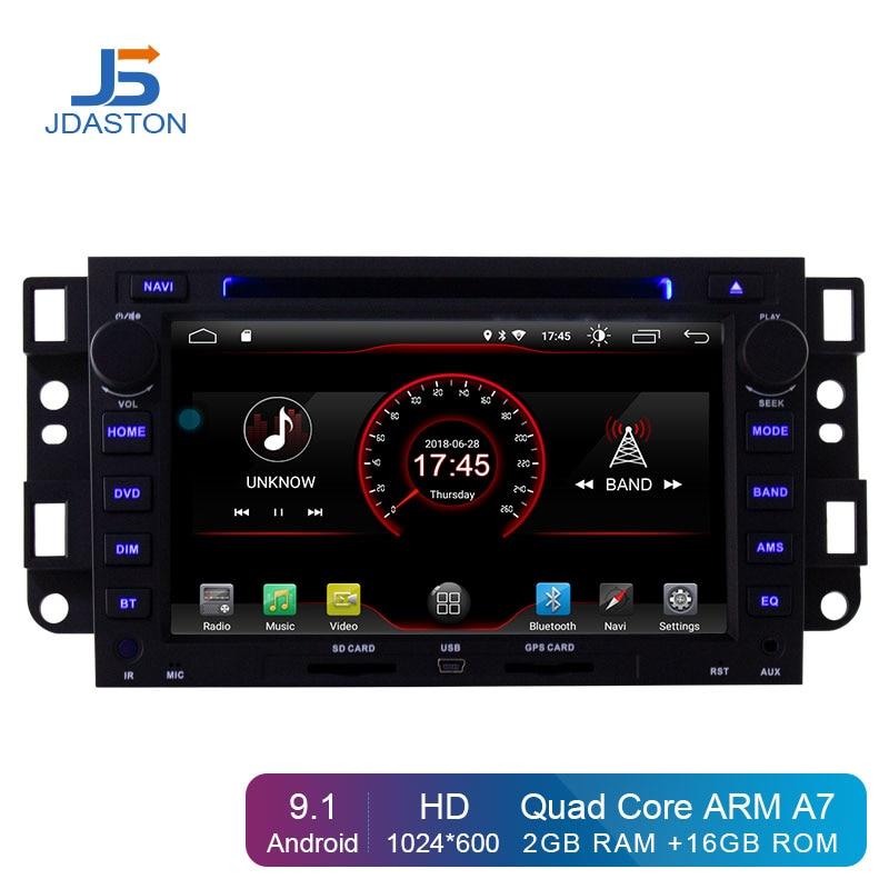 Lecteur DVD de voiture JDASTON Android 9.1 pour Chevrolet Epica Captiva Lova Aveo Spark Optra Holden GPS 2 Din Radio stéréo multimédia