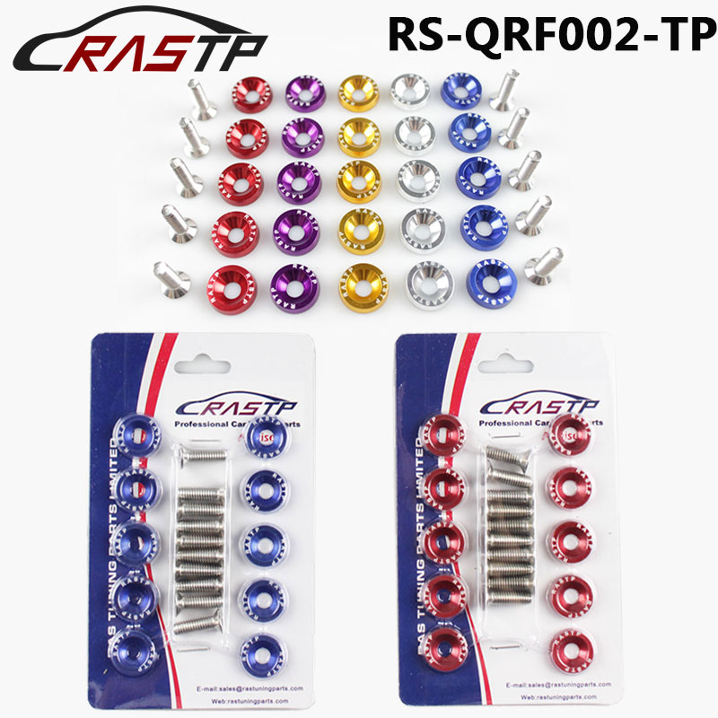 Rastp-алюминиевый Fender Бампер шайбы и болты Наряжаться комплект/двигатель винт комплект для Honda Civic INTEGRA RSX EK RS-QRF002-TP