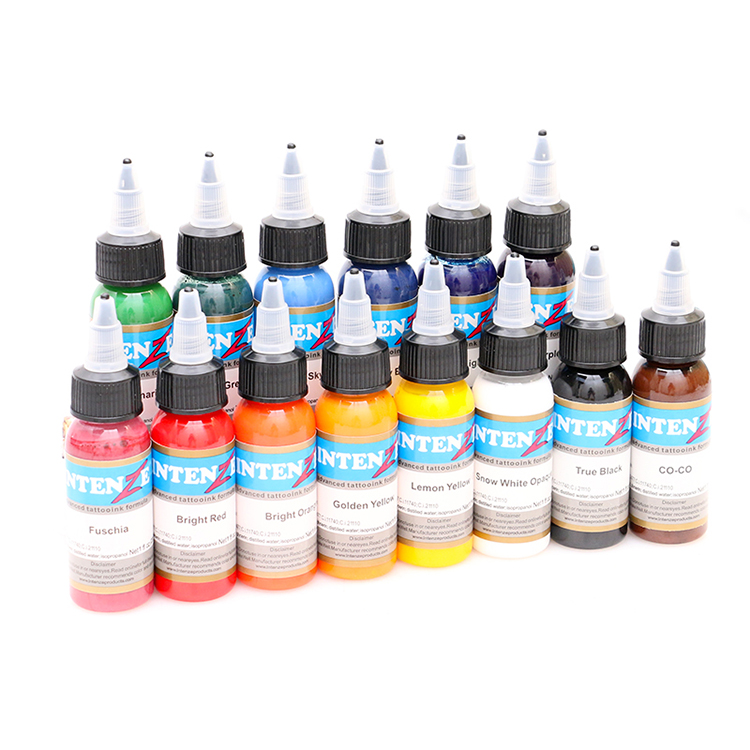 14pcs 30ml Professional Tattoo Ink 14 Colors Set 1oz 30ml/Bottle Tattoo Pigment Kit Fashion Makeup cosmetics Tools 14pcs