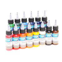 14pcs 30ml Professional Tattoo Ink 14 Colors Set 1oz 30ml Bottle Tattoo Pigment Kit Fashion Makeup