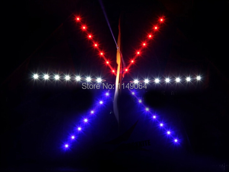 free shipping high quality shinning led kite flying kite outdoor fun & sports parafoil pipa volante with handle line led light 16 colors x vented outdoor playing quad line stunt kite 4 lines beach flying sport kite with 25m line 2pcs handles