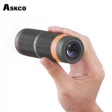 Askco Powerful 10X36 HD Full Nitrogen Waterproof Monocular Telescope Bak4 Prism Binoculars Telescope With Phone Camera Adapter