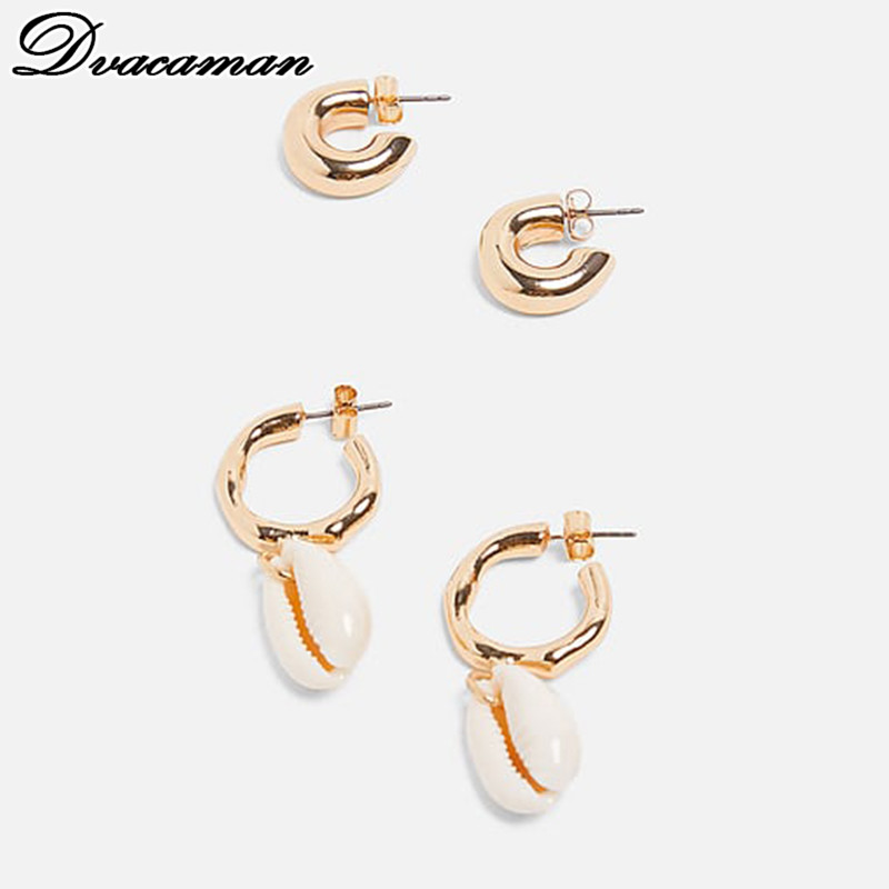 Dvacaman Za-Shell Statement Earring Drop-Earrings Party Jewelry Bohemian Fashion Women