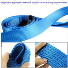 8Ton 5m Tow Strap Car Emergency Towing Strap Rope Cable Towing Pull Rope+ Golves