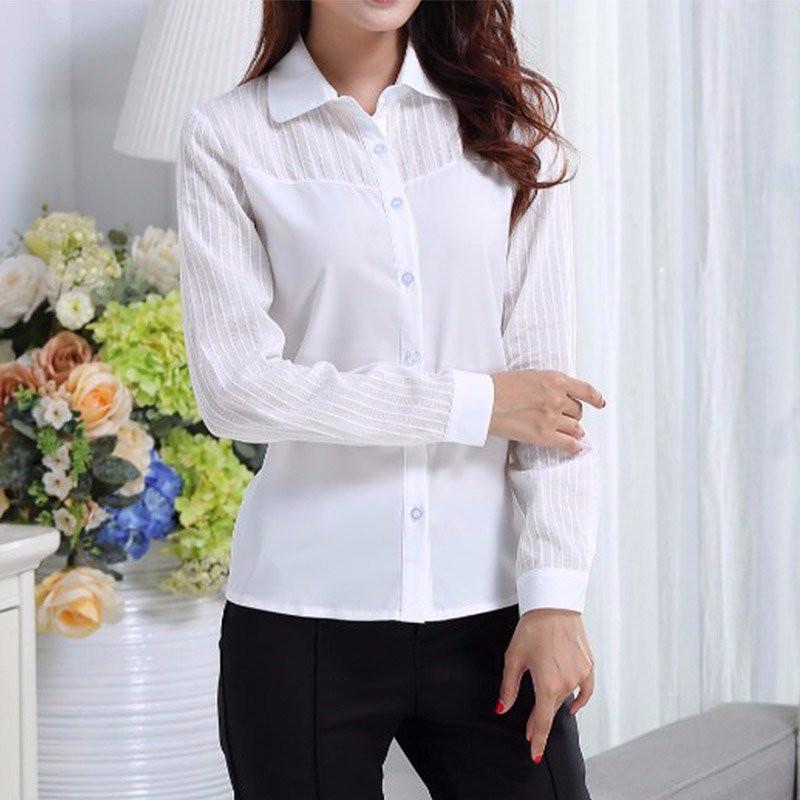 HTB1zN6GNpXXXXXnaXXXq6xXFXXXC - FREE SHIPPING White Blouse Shirt Women Work Wear Long Sleeve JKP092