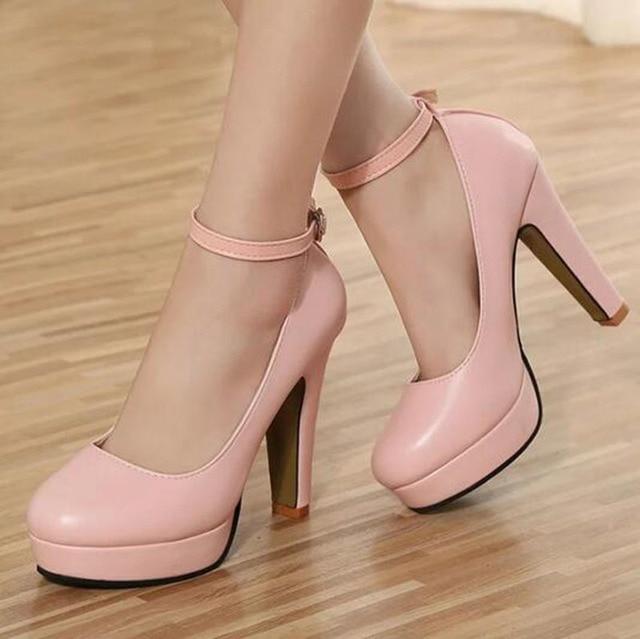 [H] Весна 2016 новых Европейских и Американских большие ярдов моды туфли на каблуках влагонепроницаемую повязку толщиной с 10 см. XXXY-272