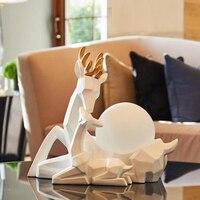 Nordic Deer Modern led Table Lamp Bedroom Bedside Table Light Wedding Decoration Lamps And Lanterns Living Room Hotel Desk lamp