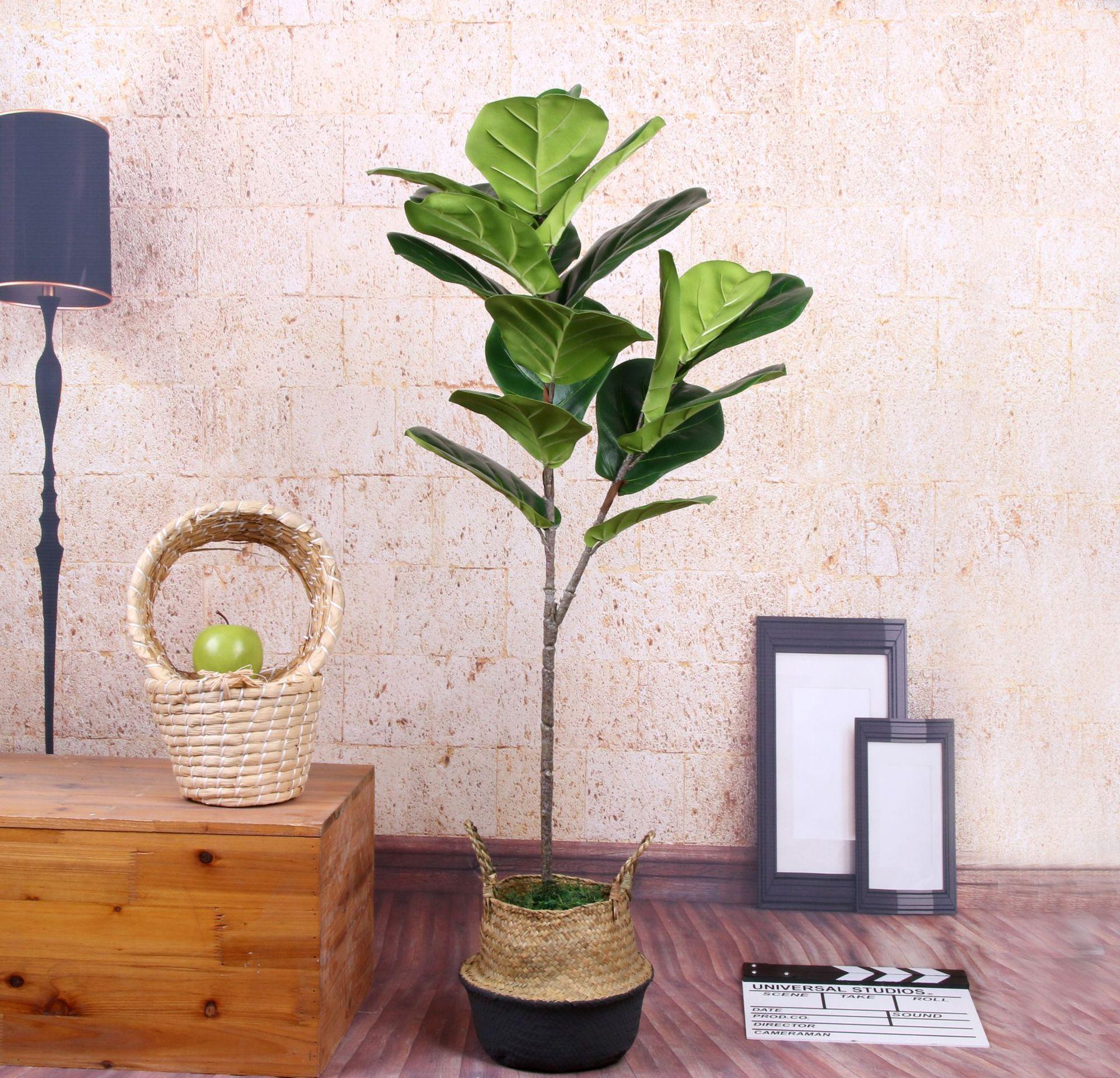 5 PCS Vero Tocco Artificiale Banyan Ramo di Un albero Artificiale albero di Banyan Pianta Falso albero di Banyan Bouquet Per La Casa Decorazione del Giardino-in Piante artificiali da Casa e giardino su  Gruppo 2