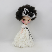 Factory Neo Blythe Doll Black Hair Regular Body 30cm