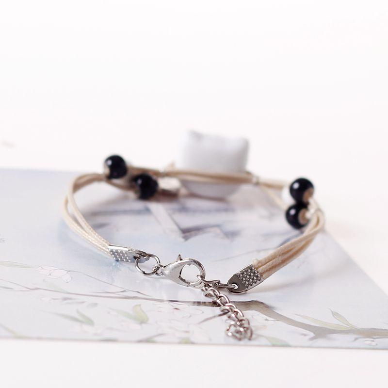 Qevila Bracelet Jewelry 2019 Fashion Hot Sale Cute Pottery Cat Bracelet New Charm Leather Bracelet for Women Men Jewelry Gift  (4)