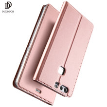 "DUX DUCIS Luxury PU Leather Flip Case for Huawei P9 Protective Funda Stand Book Cover for Huawei P9 5.2"" Phone Cases Etui Pink(China)"