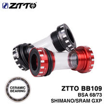 ZTTO CERAMIC Cuscinetto BB109 BSA 68 73 Bike Axle MTB Strada Bicicletta Press fit Bottoni centrali per guarnitura Shimano SRAM GXP