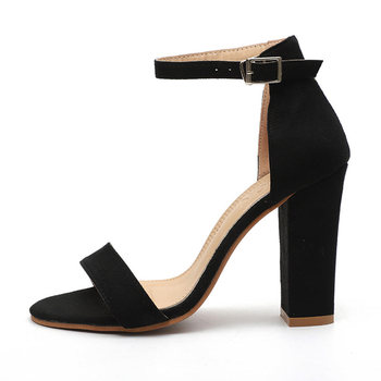 53b0a8085b Sandalias de Mujer moda tobillo Correa verano Zapatos Mujer 2019 nuevos  tacones altos Sandalias Mujer negro