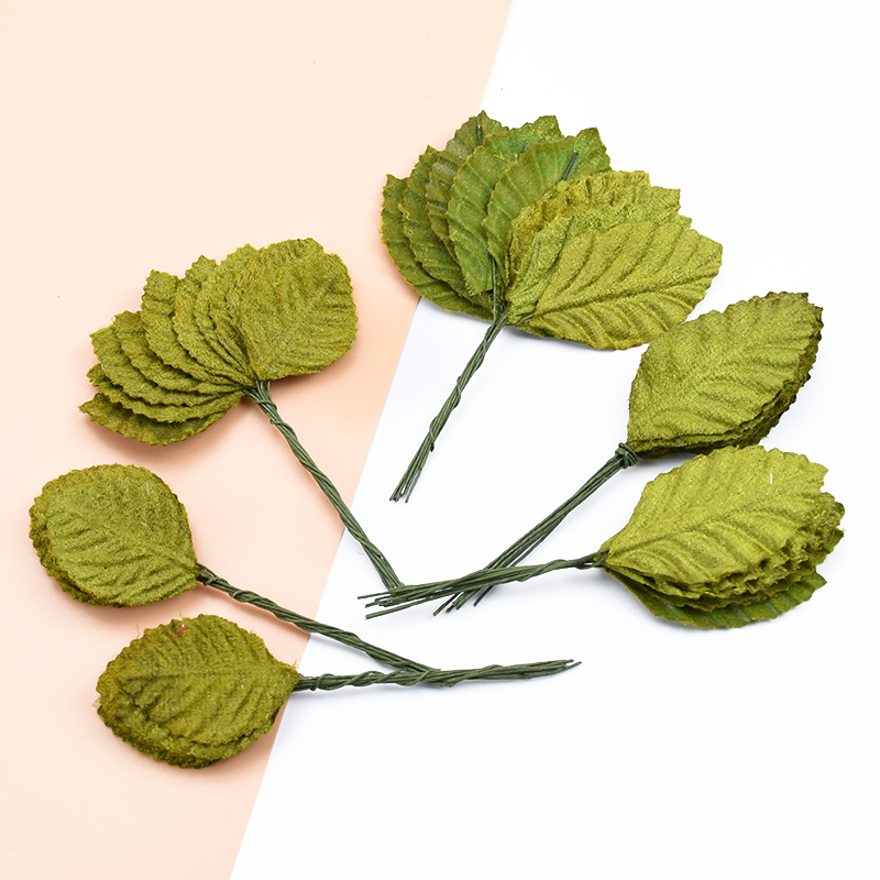 10pcs Artificial Plants Christmas Decorations For Home Wedding Bridal Accessories Clearance Fake Leaves Diy Wreaths Silk Leaf