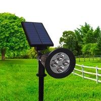 Светодио дный светодиодный солнечный свет Открытый солнечной энергии прожектор сад Газон лампа пейзаж точечные светильники крыльцо свет