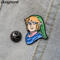 20pcs/lot DMLSKY Cartoon Link Brooch Cartoon Cute Enamel Pins For Women Men Backpack Brooch Personality Pin M2790