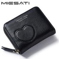 MIESATI Small Coin Purse Women Purse mini Wallet Cute Coin Holder Walet Women Bag Card Girls Wallet Leather Coin Purses Holders