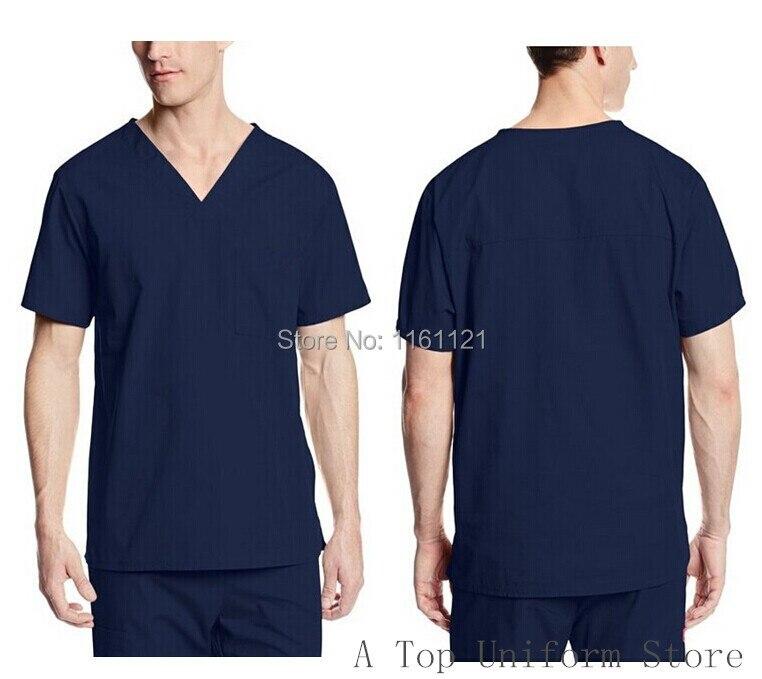 2017 Vestidos Femininos propagační pánská klasická nemocnice V krku lékařská peelingová sada oblečení s krátkým rukávem chirurgická doprava zdarma