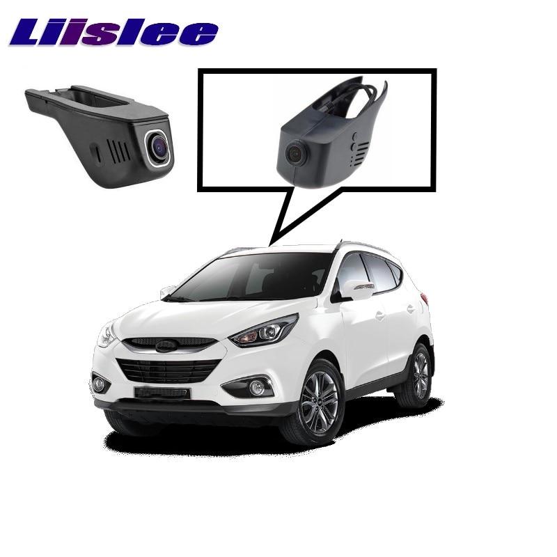 LiisLee Car Black Box WiFi DVR Dash Camera Driving Video Recorder For Hyundai ix35 Tucson 2015~2017 4pcs set smoke sun rain visor vent window deflector shield guard shade for hyundai tucson 2016