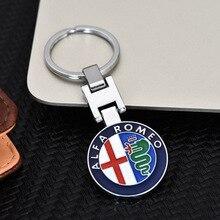 3D металлический брелок для ключей для ALFA ROMEO брелок для ключей Mito 147 156 159 166 Giulietta паук GT автомобильные брелки с логотипом автомобиля эмблемы значка