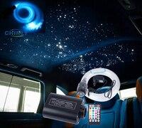 12W Car Roof LED Fiber Optic Ceiling Starry Lights Musical Sound Active Control 3m 370 Strands Optical Fiber Cable Lighting kit