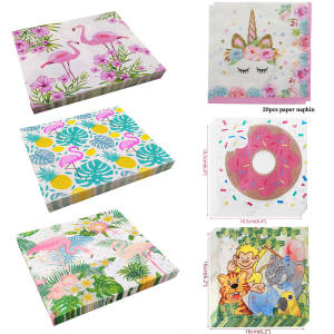 joy-enlife 20pcs/bag Birthday Napkins Decoration