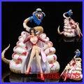 FÃS MODELO IN-STOCK One Piece 25 cm Boa Hancock posição Sentada brinquedo resina gk Figura para Coleção