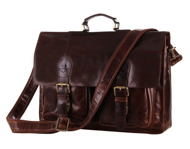 Fashion Clic Vintage Genuine Leather Men S Messenger Bags For Briefcase Office Bag Laptop Man