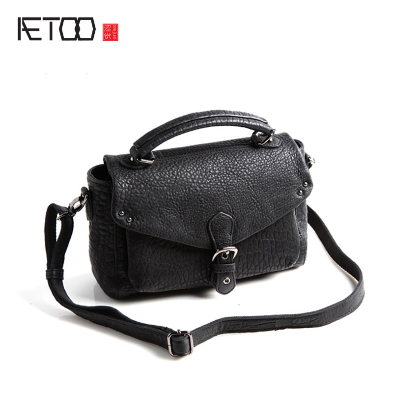 AETOO Pure leather kingdom pure leather Europe and the United States Japan and South Korea shoulder Messenger Messenger retro fa aetoo pure leather europe and the united states japan and south korea fashion retro bag leather leather casual daily travel back