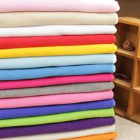 1 Meter Cotton Knit Cloth Thick Sewing Soft Fleece Fabric Cheap Purple Blue Green Pink Black