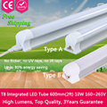 1pcs High Power Led Tube T8 Integrated Lampada 600mm 2ft 10W SMD2835 240V Home Lighting Wall Lamps T8 Led Tube Light 9W 220V