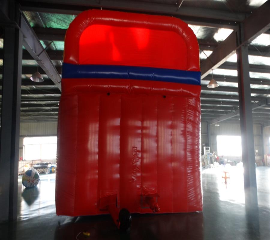 Hot sale Biru merah PVC slide tiup slide slide tanah berkualitas - Hiburan - Foto 6