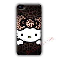 Hello Kitty Leopard Print Fashion Cell Phone Case Cover For Samsung Galaxy S3 S4 S5 S6