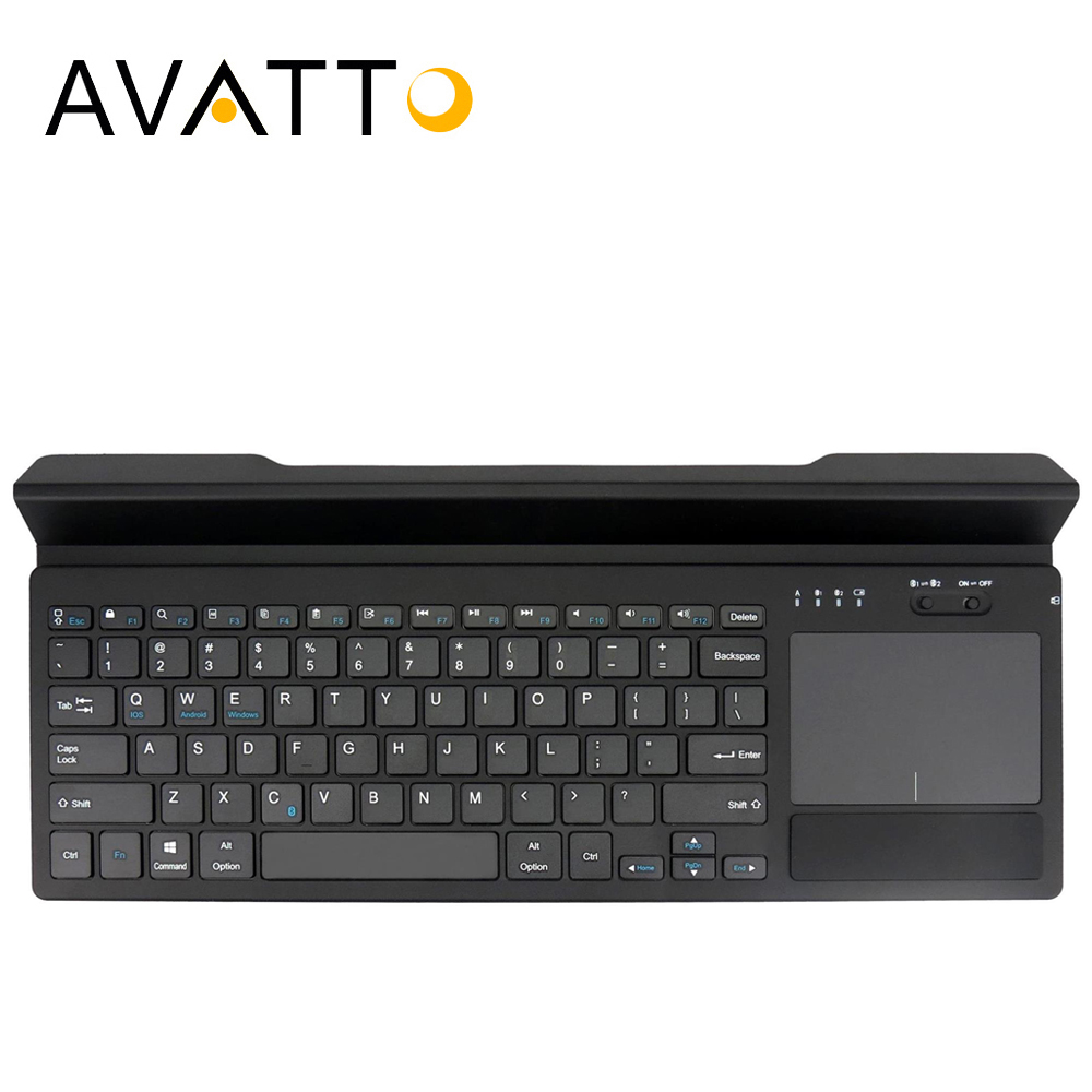 [AVATTO] Universal 2 Channel Bluetooth 4.0 Wireless Keyboard with Touchpad,Groove for Andorid iOS Mac OS Smart phone Tablet PC ...