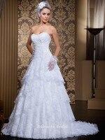 Бразилия Новый стиль 2 в 1 кружева свадебное платье со съемными поезда длиной до пола сексуальная милая Vestidos Novia 2014 свадеб