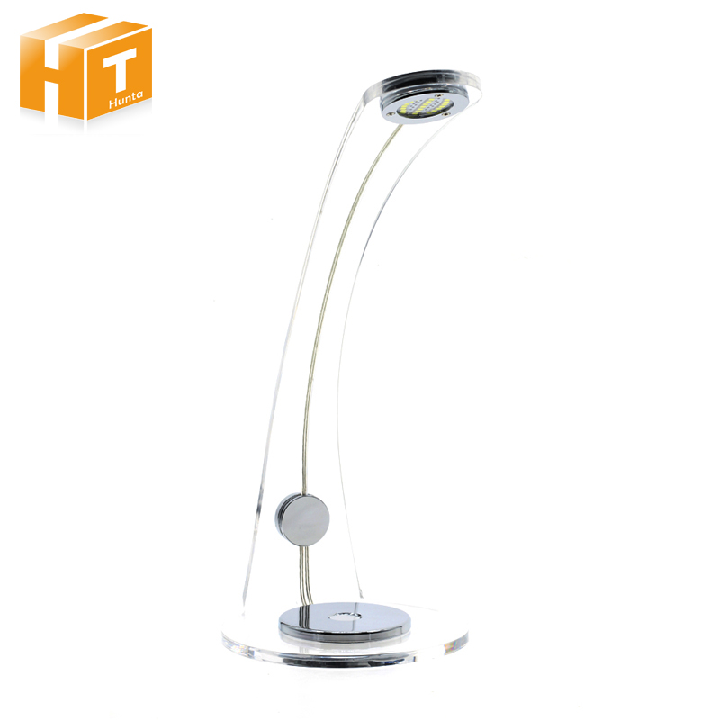 Acrylic LED Table Lamp Desk Light Eye Care 3-Level Dimmable Touch Night Lamp Office Bedroom Desk Lamp Book Light aifeng led desk lamp foldable dimmable 5w 370lm desk table light usb charging touch night light eye care book reading desk lamps