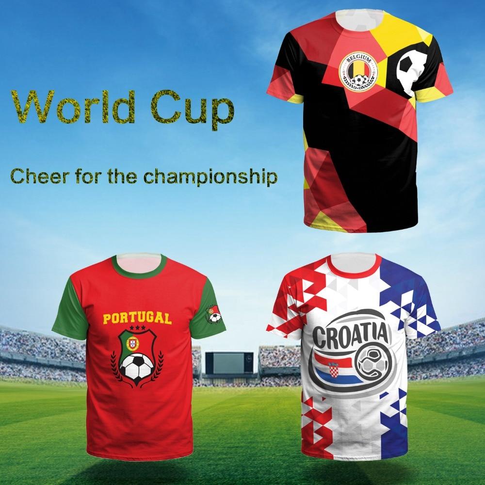 2018 Jersey Men Women France Soccer Jerseys Large Size Football Shirt Germany Brazil Belgium Jersey Sport T-shirt