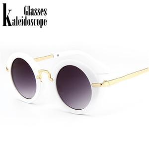 Kaleidoscope очки детские солнцезащитные очки для мальчиков брендовые Детские Круглые Солнцезащитные очки для девочек детские очки UV400 в стиле ретро