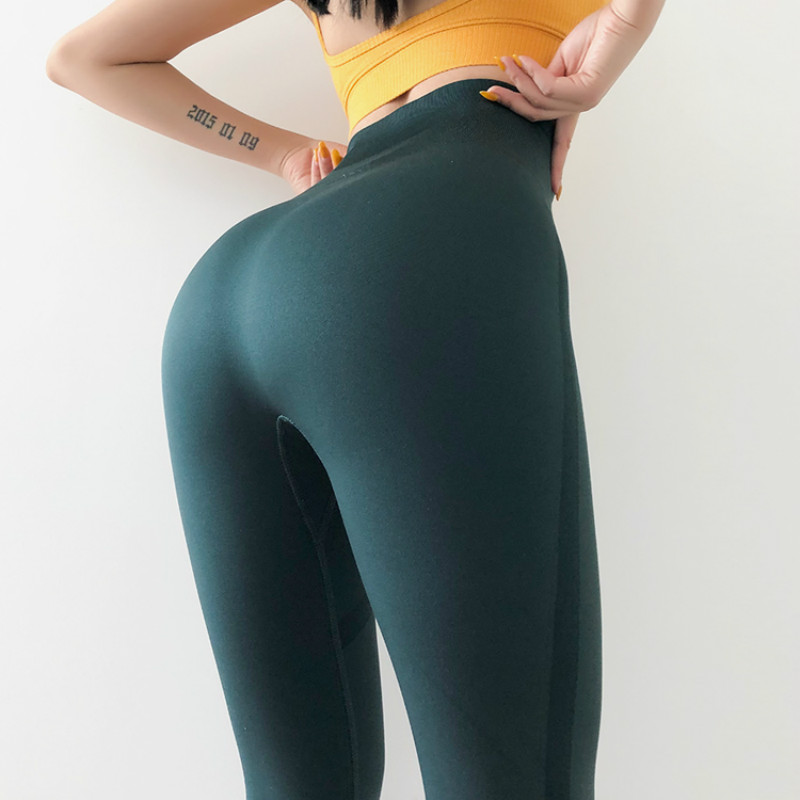 Colorvalue Tummy Control Training Fitness Leggings Women High Waist Seamless Sport Gym Tights Flexible Plain Yoga Athletic Pants in Yoga Pants from Sports Entertainment