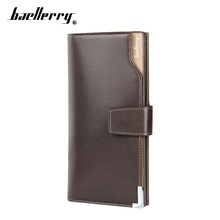 Famous Fashion Brand High Quality Men Wallets Genuine Leather Hasp Long Card Holder Coin Purse Casual