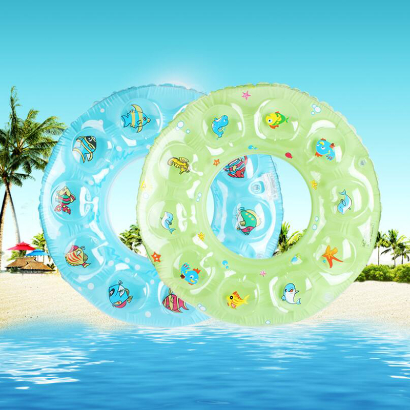child swimming ring 0-8y PVC inflatable swim ring Double thickened crystal circle-for-bathing-baby swimming pools