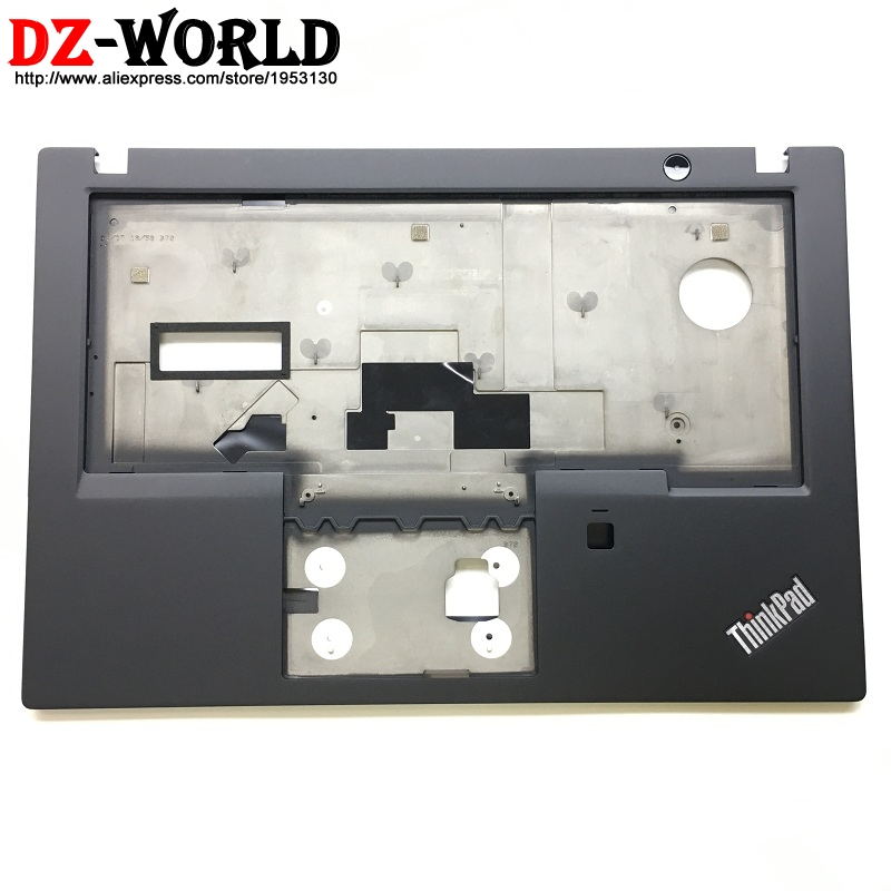 New Original for ThinkPad T480S Keyboard Bezel Palmrest Cover without Touchpad with Fingerprint Hole 01YN986 AM16Q000G00