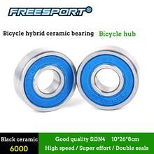 Freesport 2 uds. De cubo de bicicleta de alta velocidad, rodamiento de cerámica híbrido para bicicleta de montaña, Ciclismo de Carretera para bujes de bicicleta